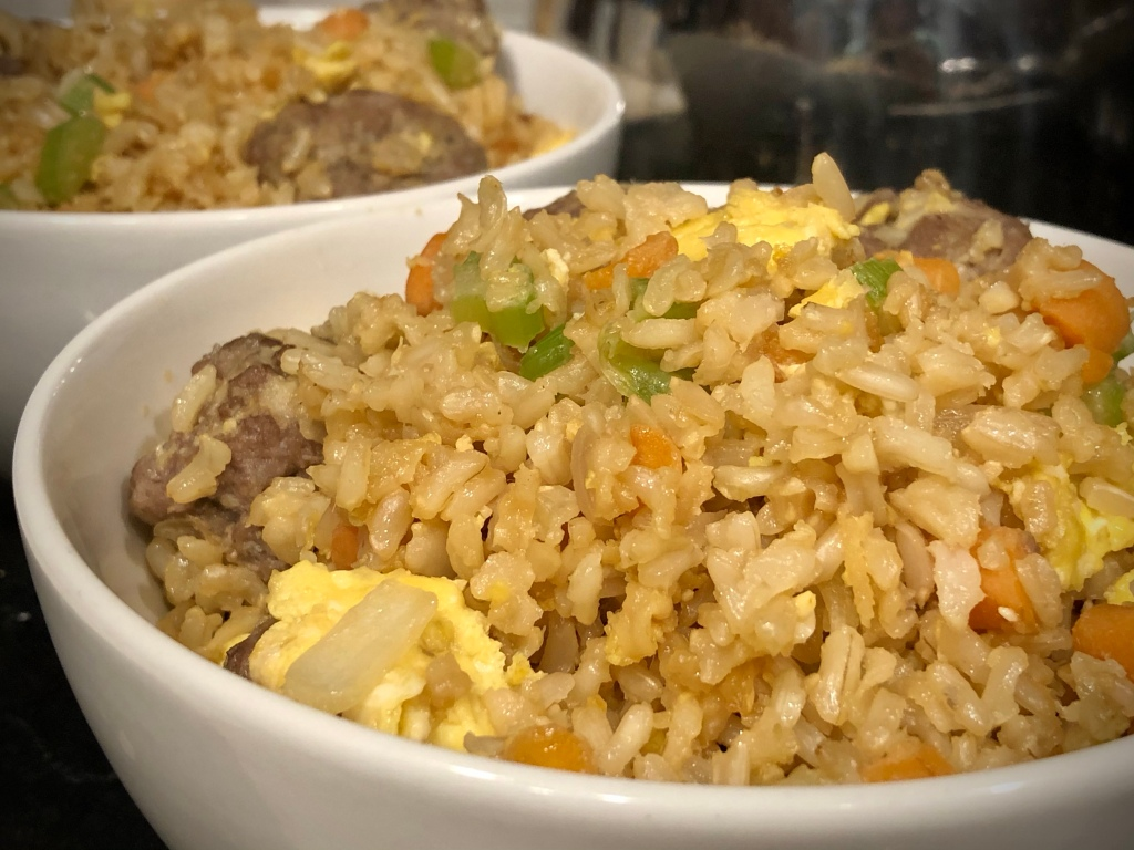 Fried rice in two bowls