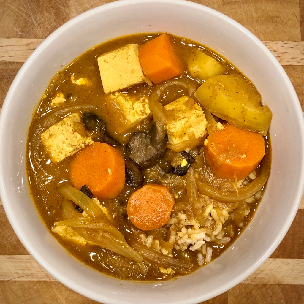 Japanese Curry in a bowl over rice